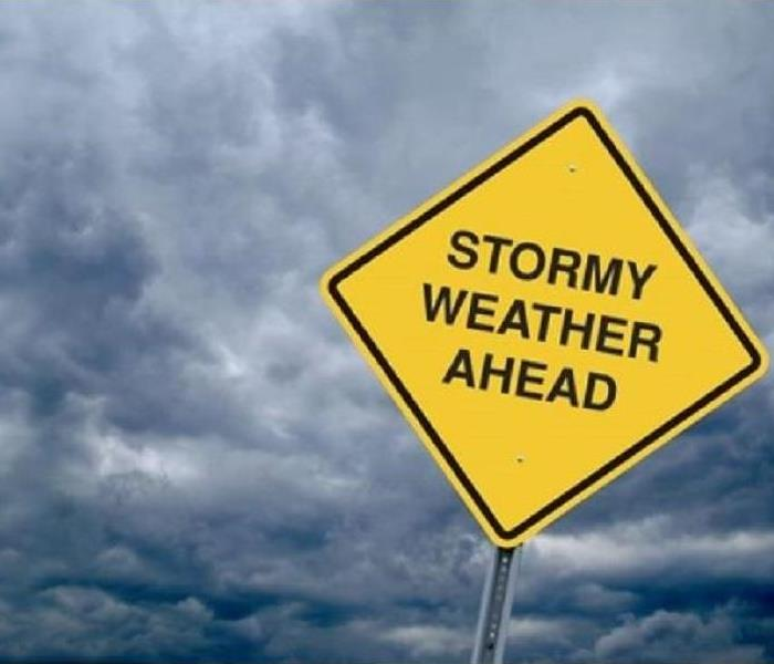 storm and warning sign